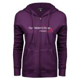 ENZA Ladies Purple Fleece Full Zip Hoodie-Our Childrens House