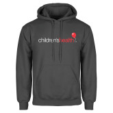 Charcoal Fleece Hoodie-Childrens Health Logo