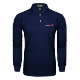 Navy Long Sleeve Polo-Childrens Health Logo