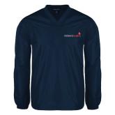 V Neck Navy Raglan Windshirt-Childrens Health Logo
