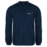 V Neck Navy Raglan Windshirt-Pediatric Group