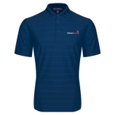 Indigo Blue Horizontal Textured Polo-Childrens Health Logo