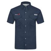 Columbia Tamiami Performance Navy Short Sleeve Shirt-Childrens Health Logo