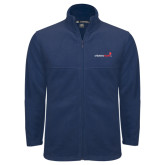 Fleece Full Zip Navy Jacket-Childrens Health Logo