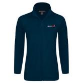 Ladies Fleece Full Zip Navy Jacket-Childrens Health Logo