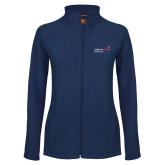 Ladies Fleece Full Zip Navy Jacket-Pediatric Group