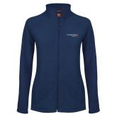 Ladies Fleece Full Zip Navy Jacket-Our Childrens House