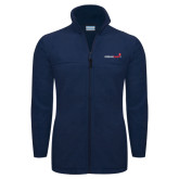 Columbia Full Zip Navy Fleece Jacket-Childrens Health Logo