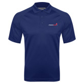Navy Textured Saddle Shoulder Polo-Childrens Health Logo
