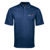 Navy Mini Stripe Polo-Childrens Health Logo