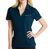 Ladies Nike Golf Dri Fit Navy Micro Pique Polo-Childrens Health Logo