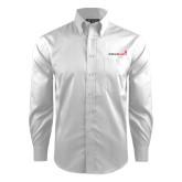 Red House White Dobby Long Sleeve Shirt-Childrens Health Logo