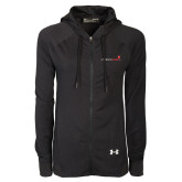Ladies Under Armour Black Varsity Full Zip Hoodie-Childrens Health Logo
