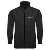 Black Heather Fleece Jacket-Childrens Health Logo