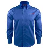 Red House French Blue Dobby Long Sleeve Shirt-Childrens Health Logo