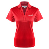 Ladies Red Performance Fine Jacquard Polo-Childrens Health Logo