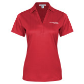 Ladies Red Performance Fine Jacquard Polo-Our Childrens House