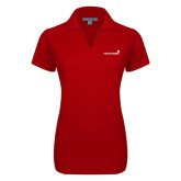 Ladies Red Dry Zone Grid Polo-Childrens Health Logo