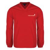 V Neck Red Raglan Windshirt-Childrens Health Logo