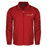 Full Zip Red Wind Jacket-Childrens Health Logo