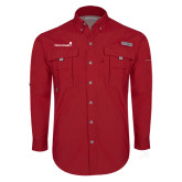 Columbia Bahama II Red Long Sleeve Shirt-Childrens Health Logo