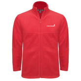Fleece Full Zip Red Jacket-Childrens Health Logo