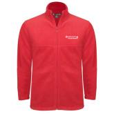 Fleece Full Zip Red Jacket-Andrews Institute Logo