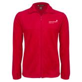 Fleece Full Zip Red Jacket-Pediatric Group