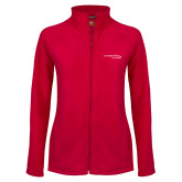 Ladies Fleece Full Zip Red Jacket-Our Childrens House
