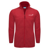 Columbia Full Zip Red Fleece Jacket-Childrens Health Logo