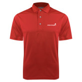 Red Dry Mesh Polo-Childrens Health Logo