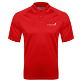 Red Textured Saddle Shoulder Polo-Childrens Health Logo