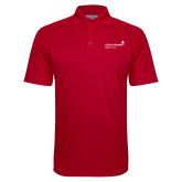 Red Textured Saddle Shoulder Polo-Pediatric Group