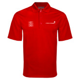 Red Mini Stripe Polo-Childrens Health Logo