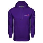 Under Armour Purple Performance Sweats Team Hoodie-Childrens Health Logo