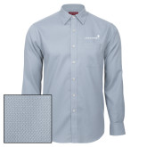 Red House Light Blue Diamond Dobby Long Sleeve Shirt-Childrens Health Logo