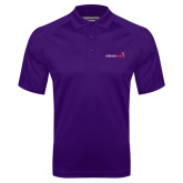 Purple Textured Saddle Shoulder Polo-Childrens Health Logo