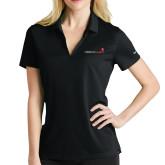 Ladies Nike Golf Dri Fit Black Micro Pique Polo-Childrens Health Logo