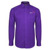 Purple Twill Button Down Long Sleeve-Pediatric Group