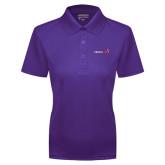 Ladies Purple Dry Mesh Polo-Childrens Health Logo