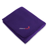 Purple Arctic Fleece Blanket-Childrens Health Logo