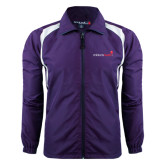 Colorblock Purple/White Wind Jacket-Childrens Health Logo