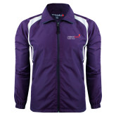 Colorblock Purple/White Wind Jacket-Pediatric Group