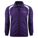 Colorblock Purple/White Wind Jacket-Our Childrens House