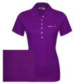 Ladies Callaway Opti Vent Purple Polo-Childrens Health Logo