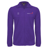 Fleece Full Zip Purple Jacket-Childrens Health Logo