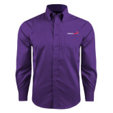 Red House Purple Long Sleeve Shirt-Childrens Health Logo