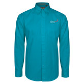 Teal Green Twill Button Down Long Sleeve-Pediatric Group