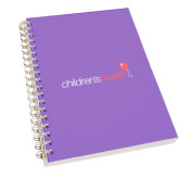 Clear 7 x 10 Spiral Journal Notebook-Childrens Health Logo