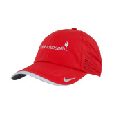 Nike Dri Fit Red Perforated Hat-Childrens Health Logo